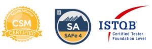 Jim Morris certifications; Scrum Master; SAFe Agilist; ISTQB